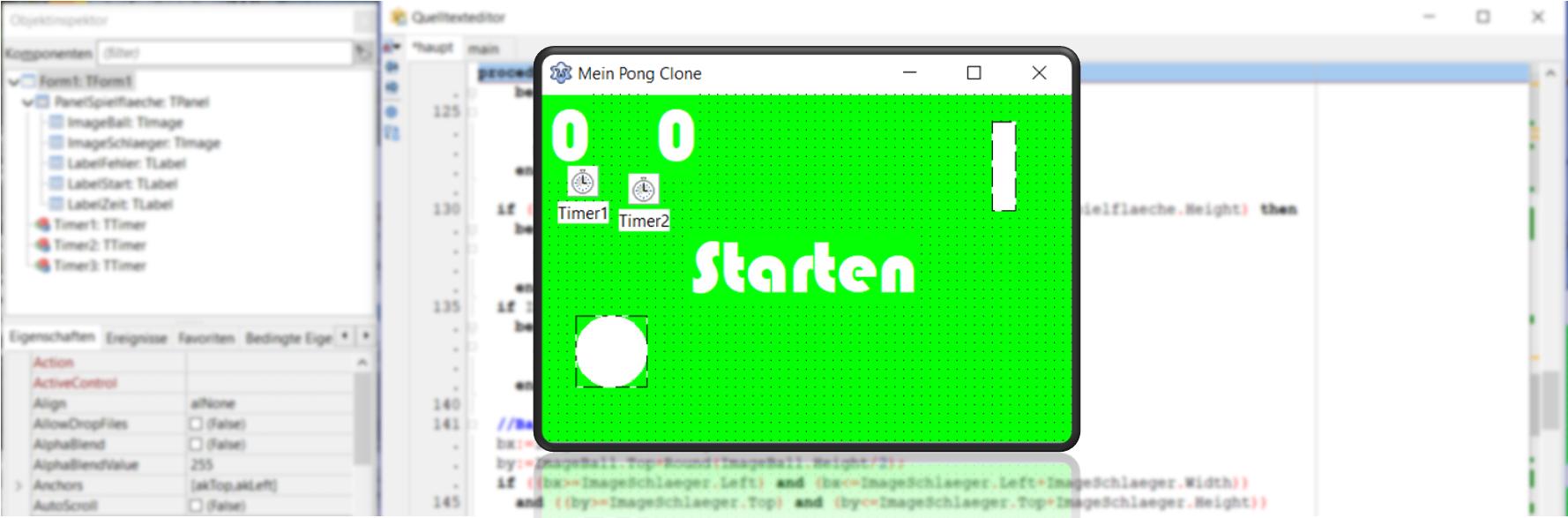 Coding für Kids: Pong Clone