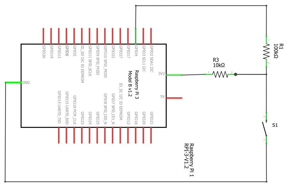 Schaltplan zum Ein-/Ausschalten des Raspberry Display