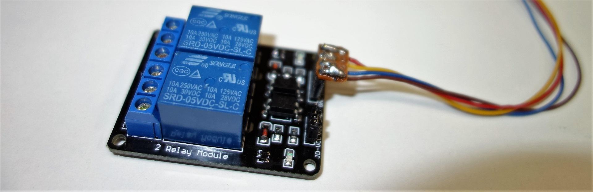 Relaiskarte mit 2 Relais und Optokopplern