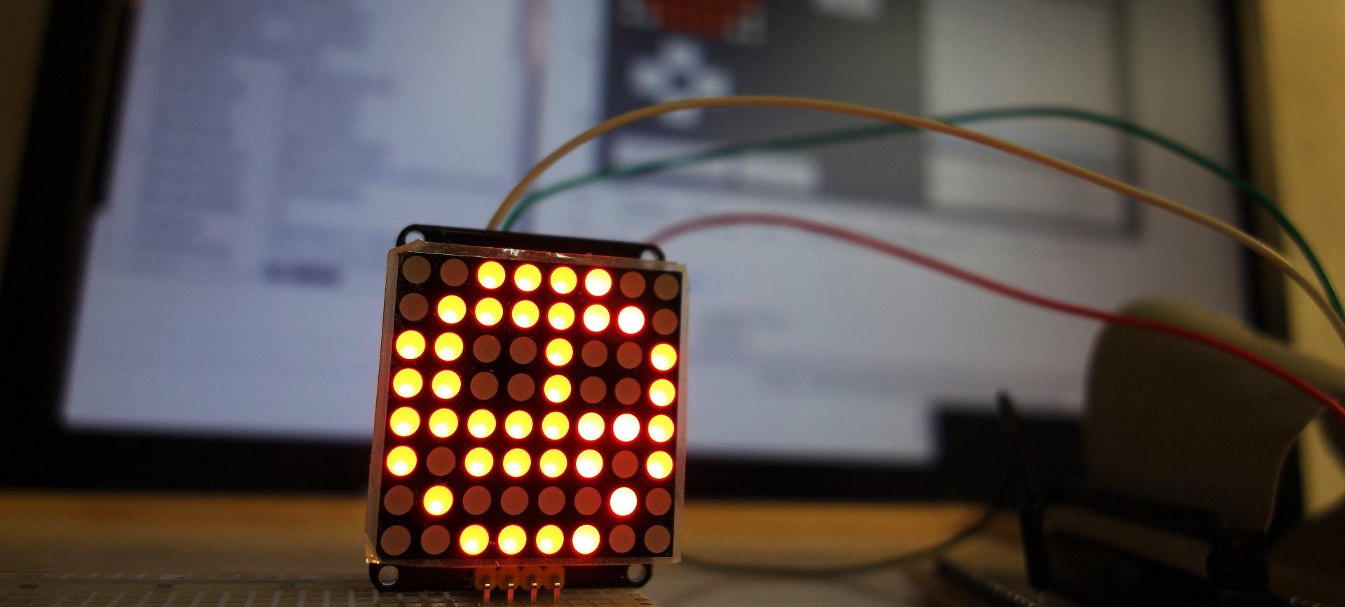8×8 LED-Matrix mit Raspberry und Lazarus