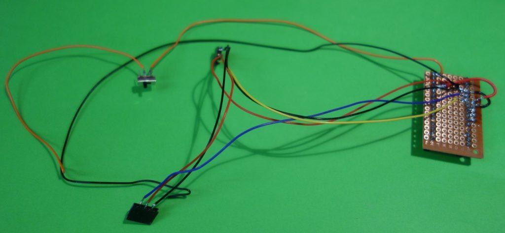 Leitungsverlauf Tiltsensoren und Ein-/Ausschalter