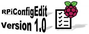 RPiConfigEdit v1.0